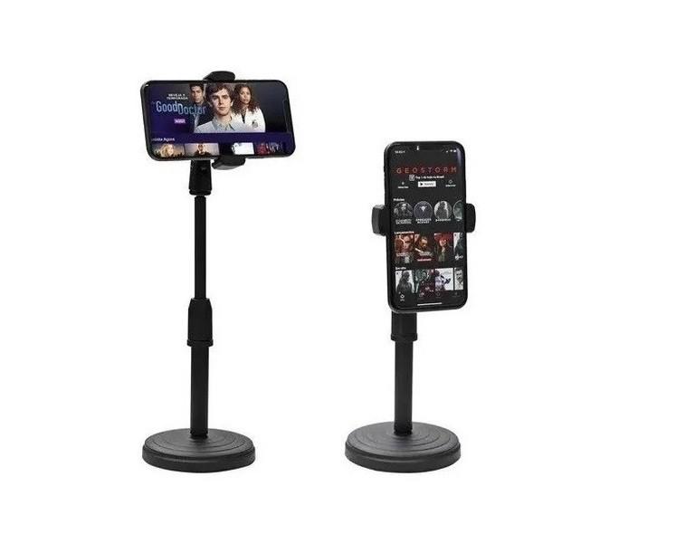 Suporte Tripé Celular Smartphone De Mesa Escritório 360º