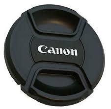Tampa frontal com logo Canon para lente 49mm