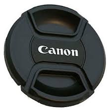 Tampa frontal com Logo Canon para lente 55mm