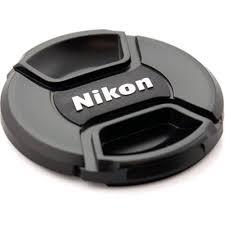 Tampa Frontal Com Logo Nikon Para Lente 55mm