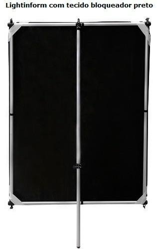 Tecido Prata/preto Avulso Para Lightingform. 1,50m X 1,00m
