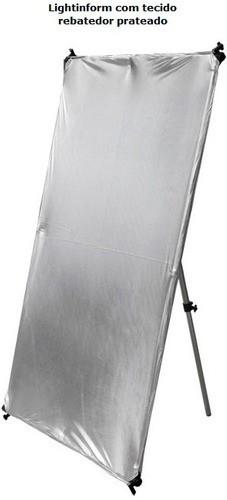 Tecido Prata/preto Avulso Para Lightingform. 1,80m X 1,20m