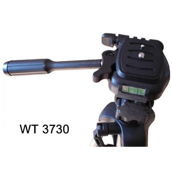 Tripé em Alumínio Weifeng WT3730 c/ Manopla Suporta 3KG até 1,52 metros