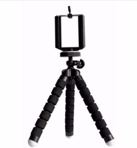 Tripé Flexível Para Smartphones GoPro Celular Preto Espuma Preta