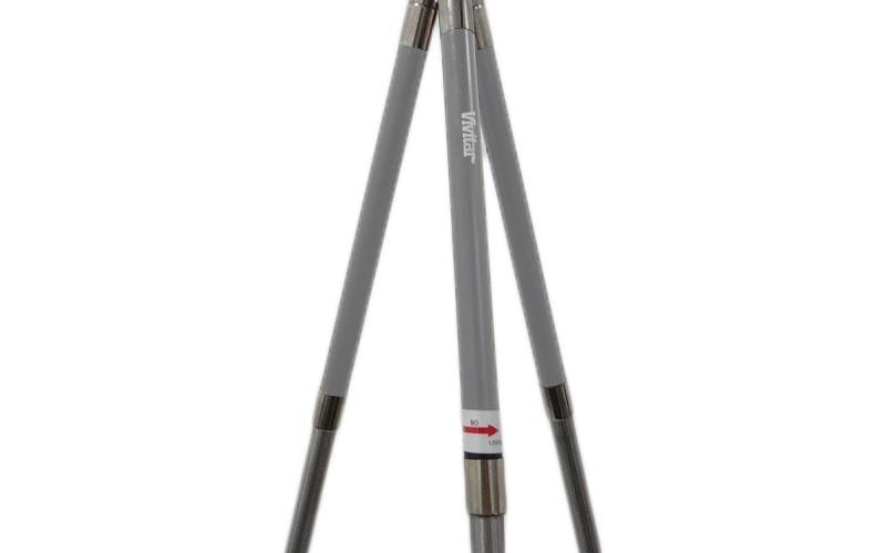 Tripé Fotográfico Vivitar VIVVT41SIL 8 seções altura até 104 cm