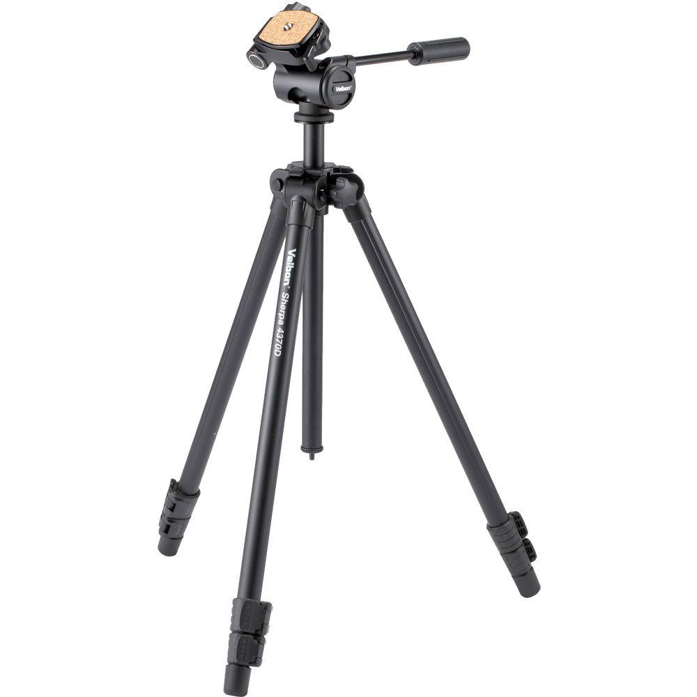 TRIPÉ PROFISSIONAL PARA FOTO E VIDEO ALT. MIN 25.8CM   ALT.MAX.  163.3CM CAP. 3.5KG VELBON