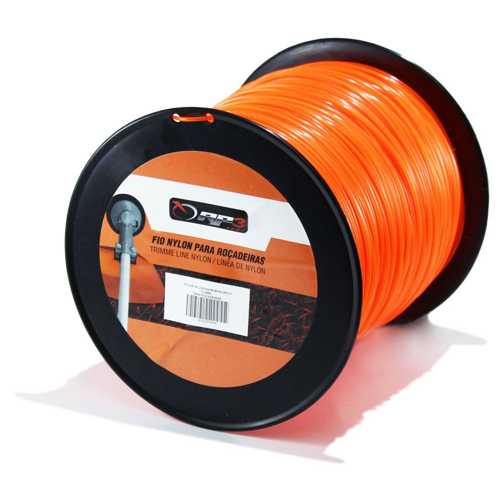 Bobina de Fio de Nylon – QUADRADO – 3.0 mm – 2 KG – 200 metros - para Roçadeiras