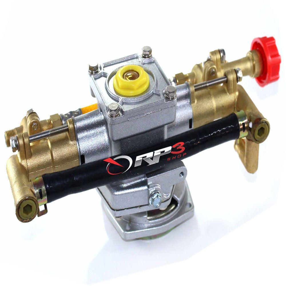 Bomba de Pressão - Pulverizador Costal a Gasolina - 25.4 cc - 2 tempos - Bomba com Saída
