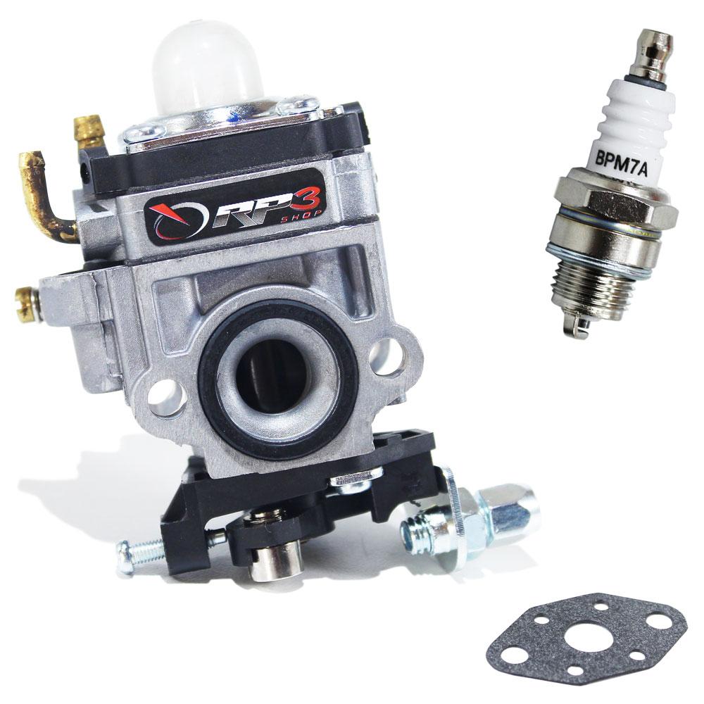 Carburador + Junta + Vela Roçadeira Toyama 26 cc / 33 cc / RT 26L / Tbc 26 / RT 33 / RT 33 L / Tbc 33