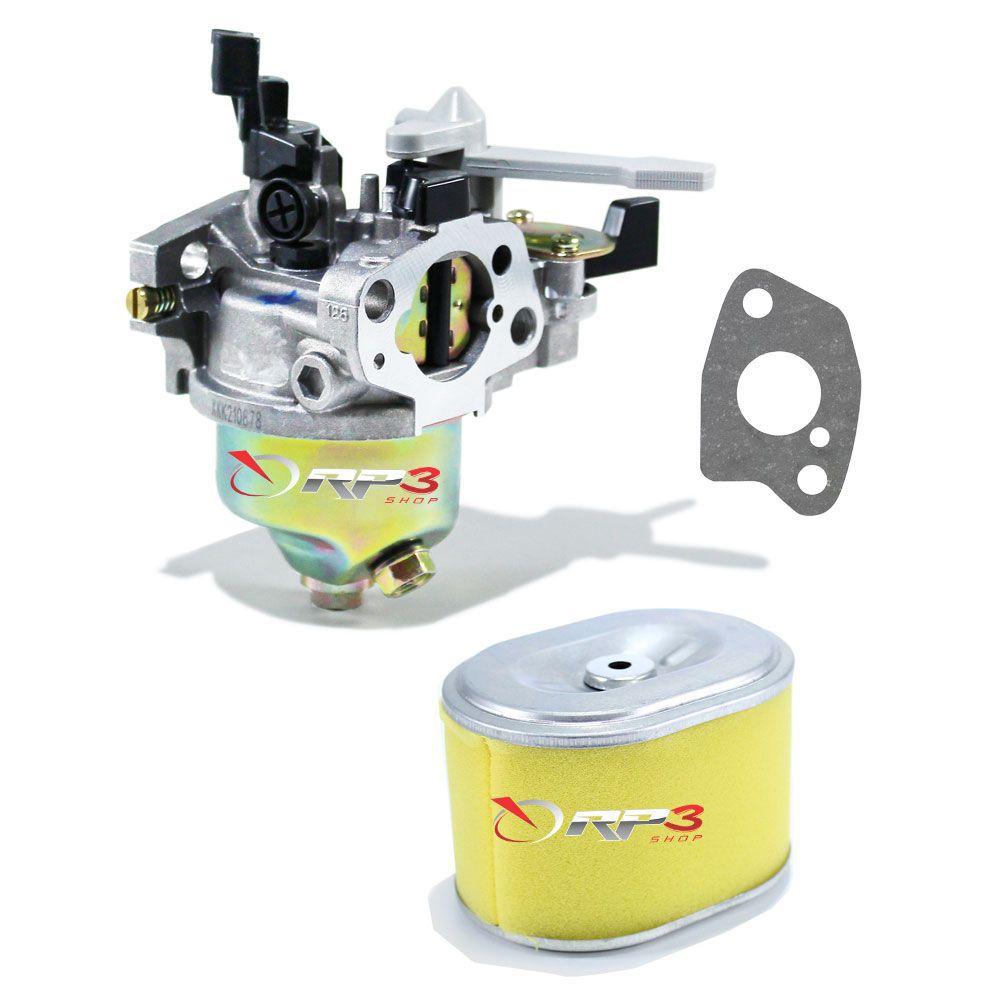 Carburador motor Branco 5.5 HP + Junta + Filtro de Ar - para Motor Estacionário