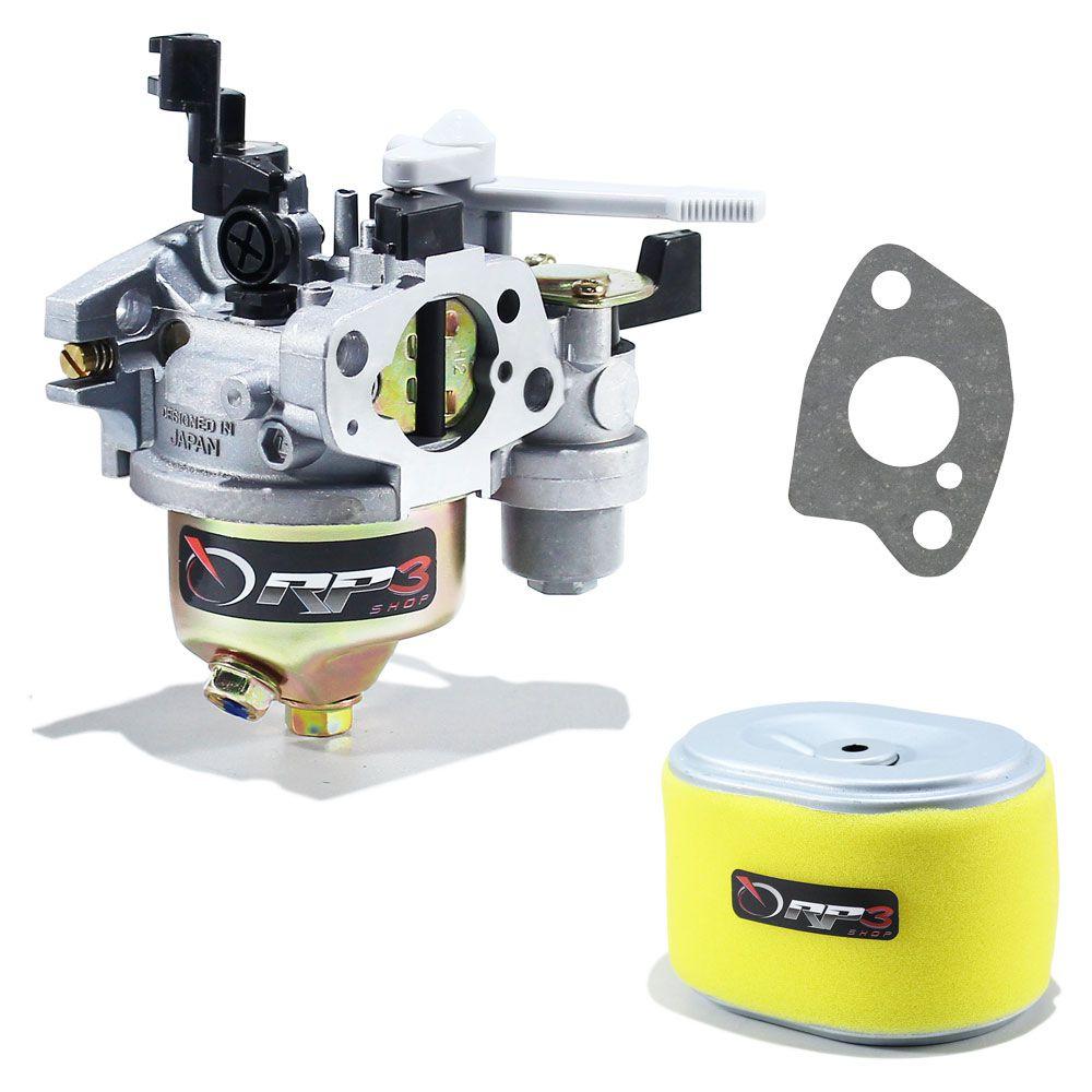 Carburador motor Honda GX200 + Junta + Filtro de Ar - Motor Estacionário