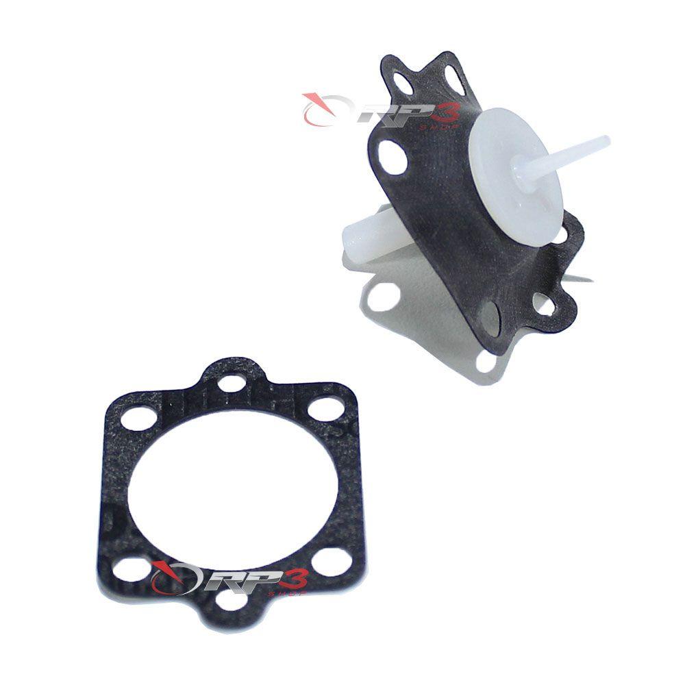 Diafragma do Injetor – Mercury-Mariner (Motor Americano) 6 HP / 8 HP / 9.9 HP / 15 HP / 20 HP / 25 HP / 30 HP - (1 UNIDADE) - para Motor de Popa
