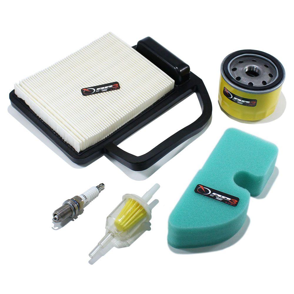 Filtro de ar (KIT)  Trator de cortar Grama Husqvarna / Briggs / Oregon / Branco / Trapp / Kohler 17.5 HP