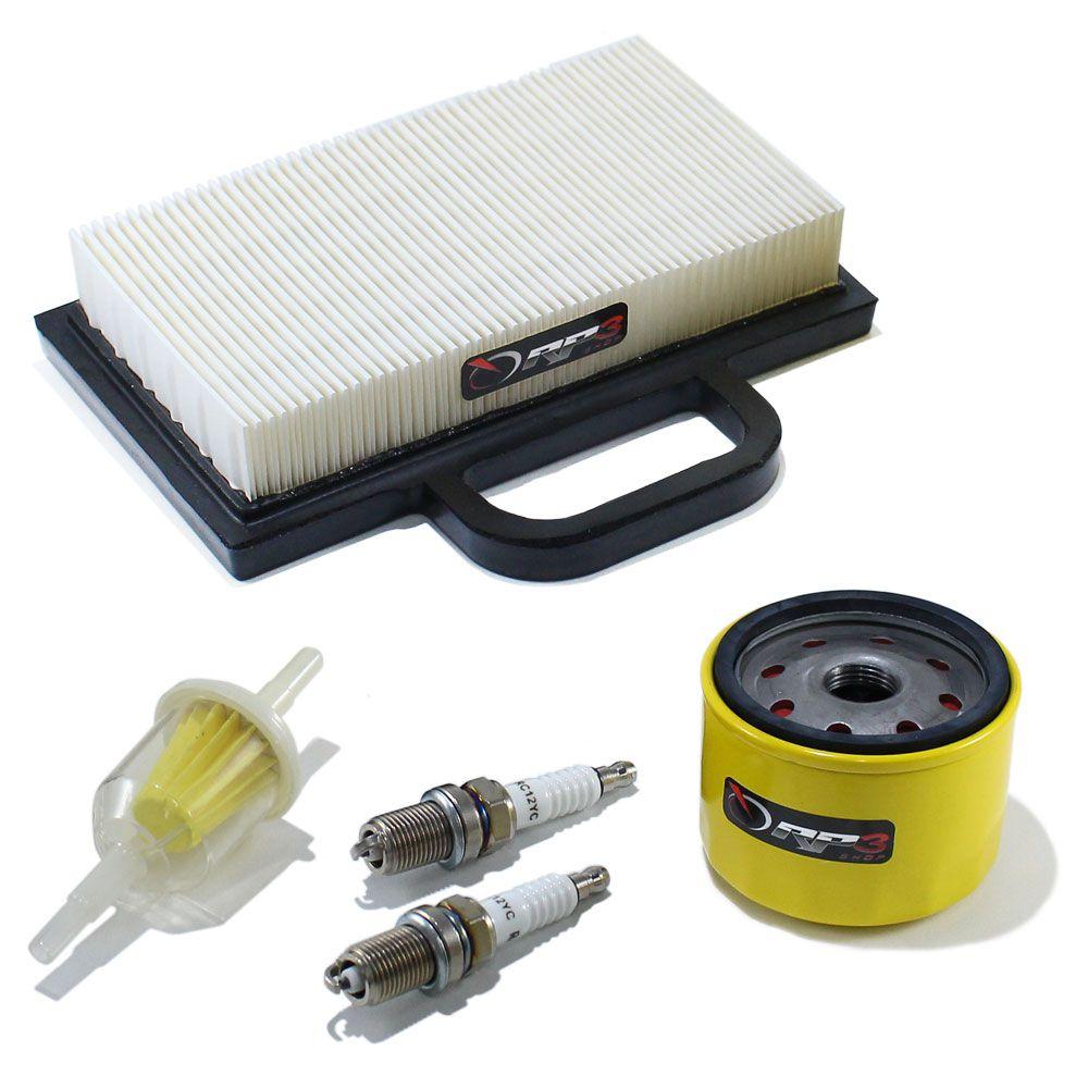 Filtro de ar (KIT) Trator de cortar Grama MTD / Husqvarna / Oregon / Branco / Trapp / Kohler 17.5 HP