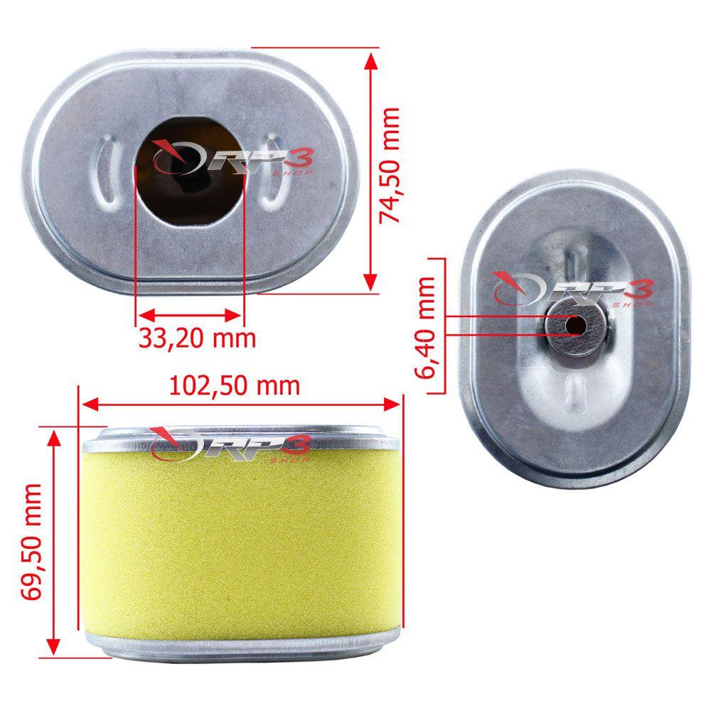 Filtro de Ar – motor Honda GX140 / GX160 / GX200 - (1 UNIDADE) - para Motor Estacionário