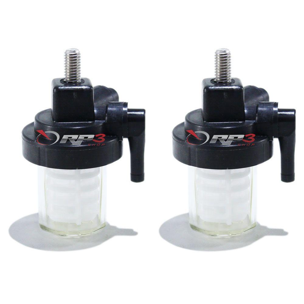 Filtro de Gasolina / Combustível Yamaha - 15 HP / 25 HP / 30 HP / 40 HP / 50 HP / 60 HP / 90 HP – Importado – (2 UNIDADES) - para Motor de Popa