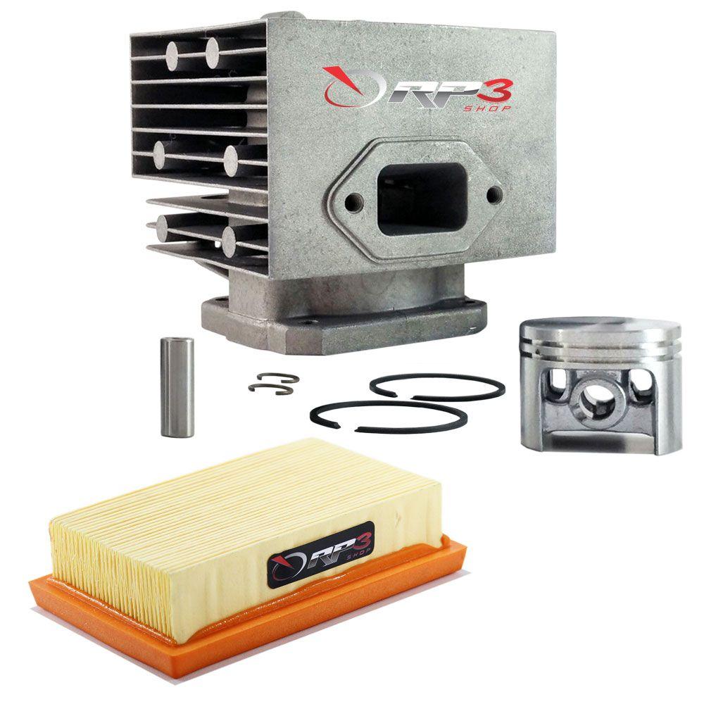 Kit cilindro + Filtro de Ar - Soprador de Folhas Costal BR 340 / BR 340 L / BR 380 / BR 420 / BR 420 C