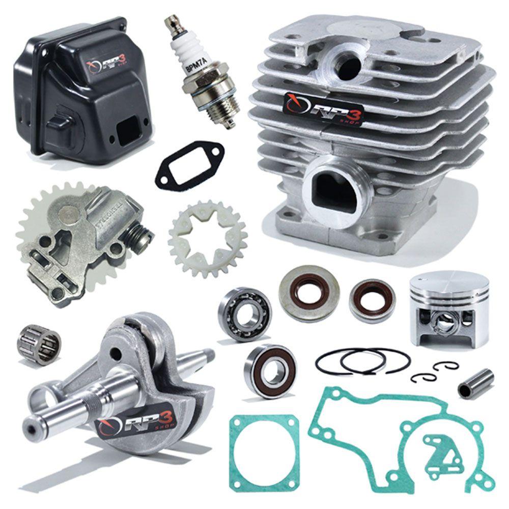 Kit Cilindro Motosserra 381 / MS 381 - (Kit Revisão PREMIUM 3)
