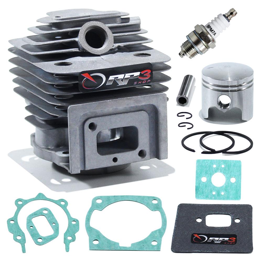 Kit Cilindro Roçadeira Garthen 52 cc / CG 520 / CG 520 HW / CG 550 / CG 5500 W + juntas + Vela de ignição