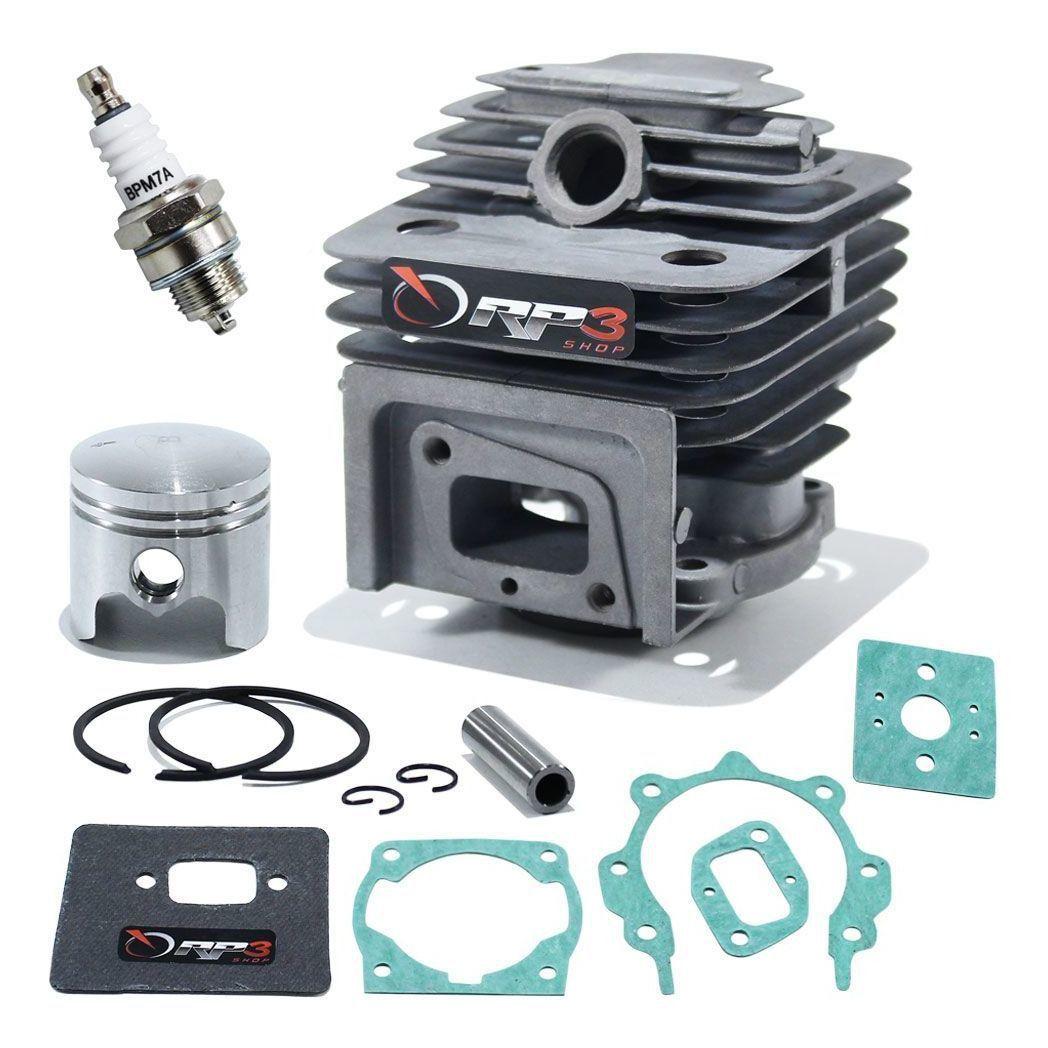 Kit Cilindro Roçadeira Garthen 43 cc / CG 430 / CG 450 / CG 450 W / BG 430 / CGM – 4500  + Kit juntas + Vela de ignição