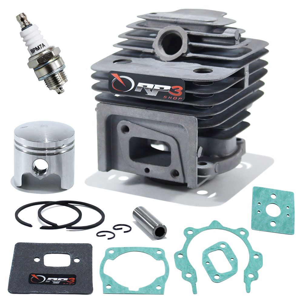 Kit Cilindro Roçadeira Toyama 43 cc / RT 43L / RT 43 C / TBC 43 H / TBC 43 X / TBC 43 SH  + Kit Juntas + Vela de Ignição
