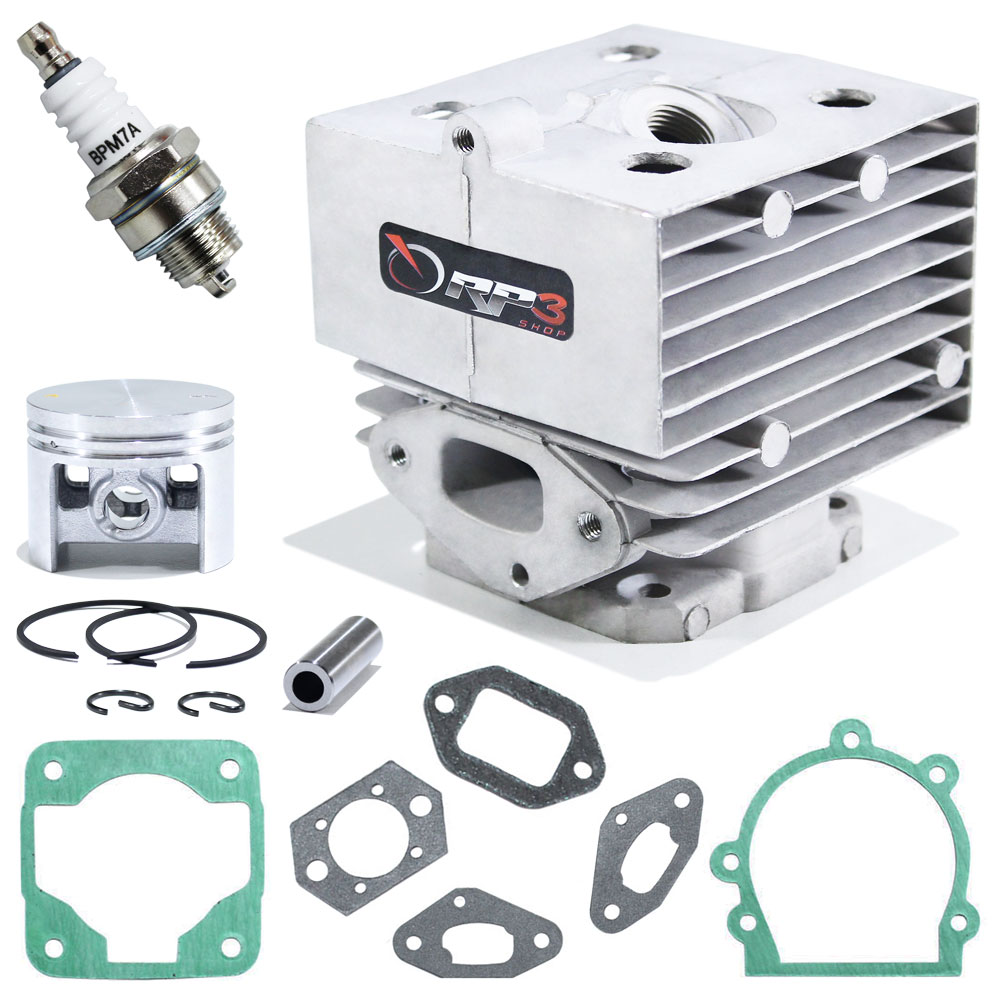 Kit cilindro Soprador de Folhas Costal BR 420 / BR 420 C / BR 340 / BR 340 L / BR 380 + Juntas + Vela