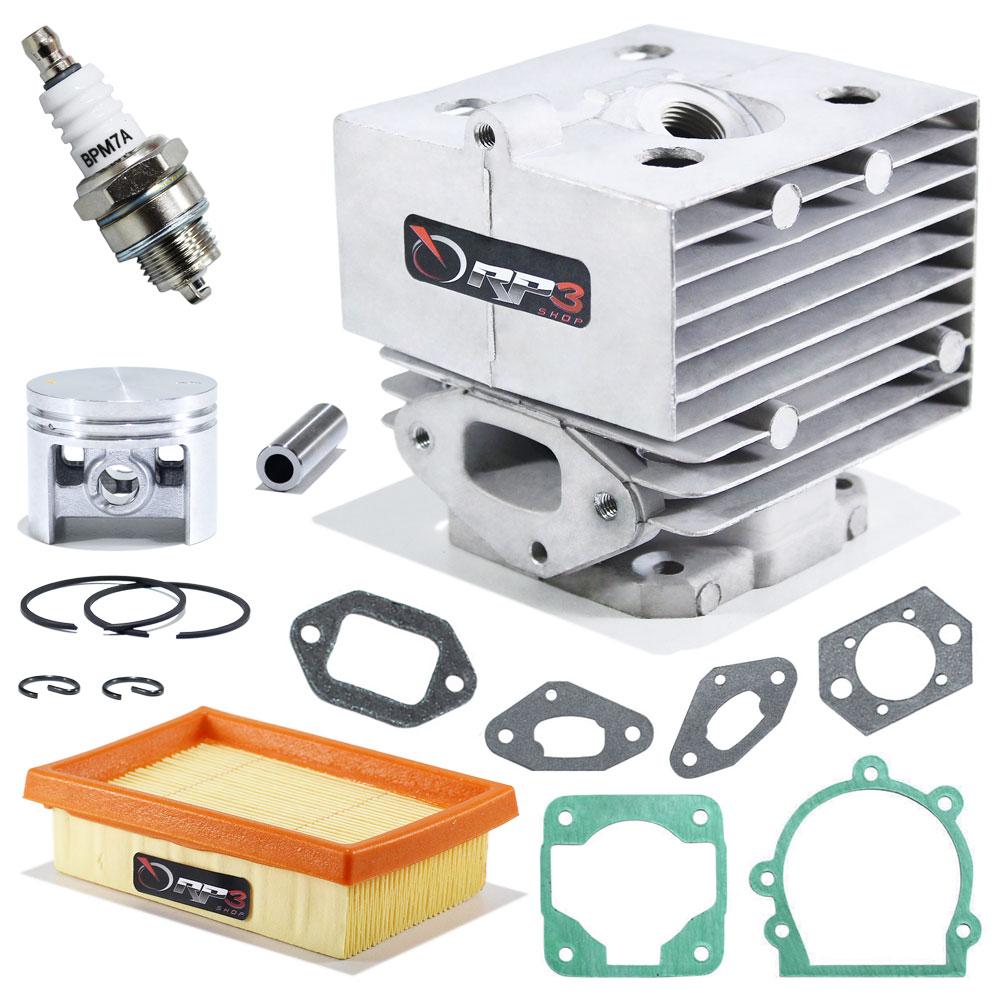 Kit cilindro Soprador de Folhas Costal BR 420 / BR 420 C / BR 340 / BR 340 L / BR 380 + Juntas + Vela + Filtro de Ar