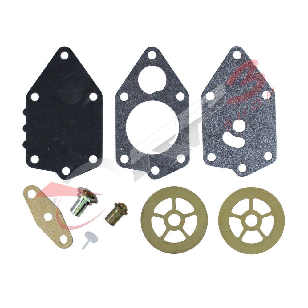 Kit de Reparo da Bomba de Combustível - Johnson / Evinrude (ANTIGO) - 9.9 HP / 15 / 20 / 25 / 28 / 30 / 40 / 45 / 48 / 50 / 55 / 60 / 65 / 70 / 88 / 90 / 100 / 115 / 125 / 155 HP - para motor de popa