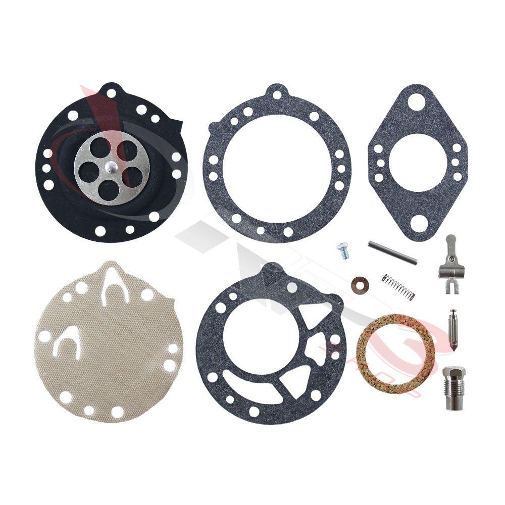 Kit de reparo de carburador COMPLETO – Stihl 08 – Carburador Redondo Tillotson - para Motosserra
