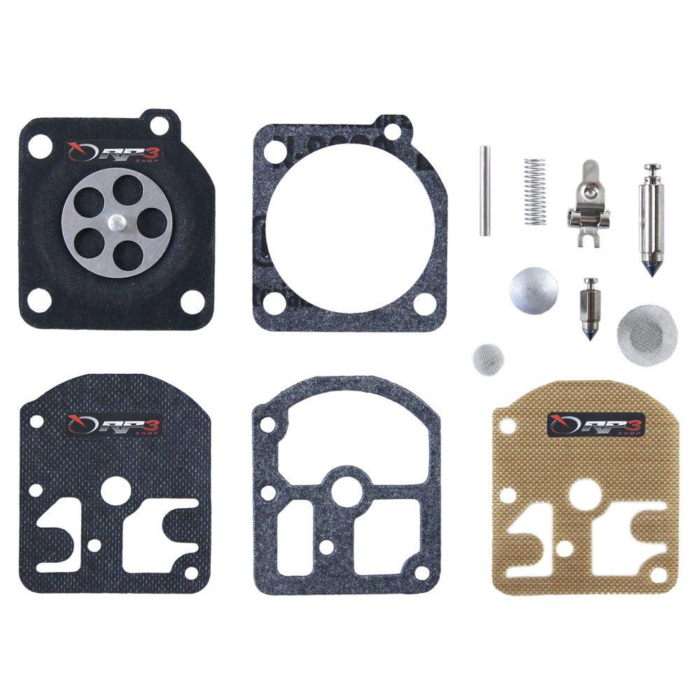 Kit de reparo de carburador COMPLETO – FS 160 / FS 220 / FS 280 / FS 290 – Carburador modelo ZAMA - (3 KIT) - para Roçadeira