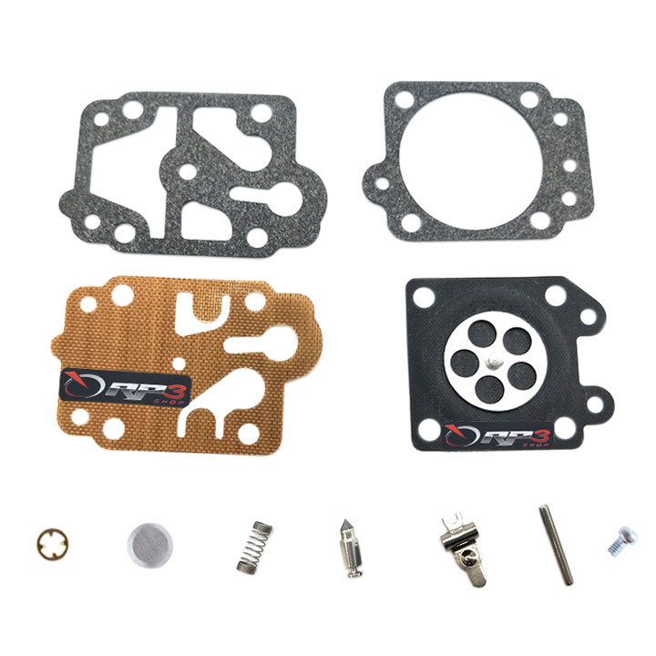 Kit de reparo de carburador Roçadeira Terra 26 cc / 33 cc / 43 cc / 52 cc - Importado dos EUA