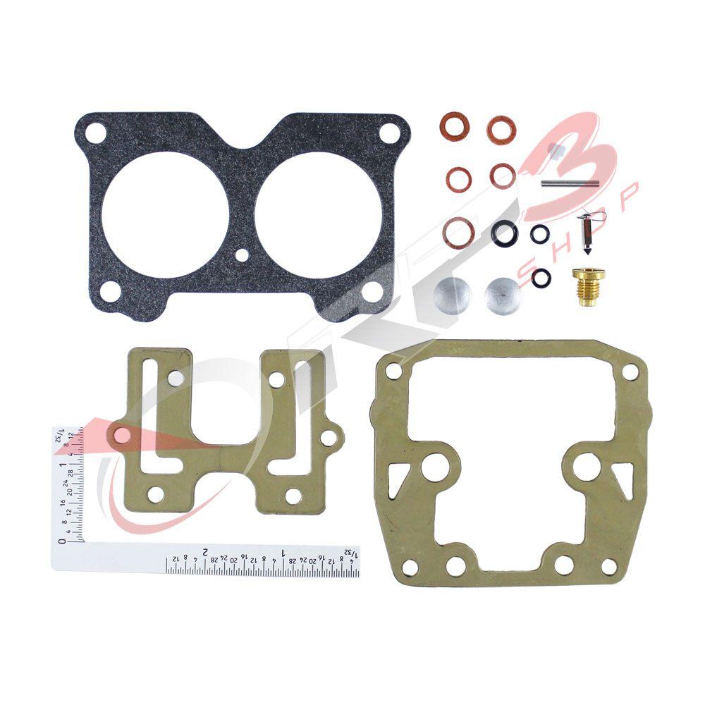 Kit de Reparo de Carburador (S/ BOIA) Johnson / Evinrude 85HP 90HP 100HP 110HP 115HP 120HP 125HP 130HP 135HP / 140 HP / 150 HP / 155 HP / 175 HP / 185 HP / 200 HP / 225 HP / 235 HP - Motor de Popa
