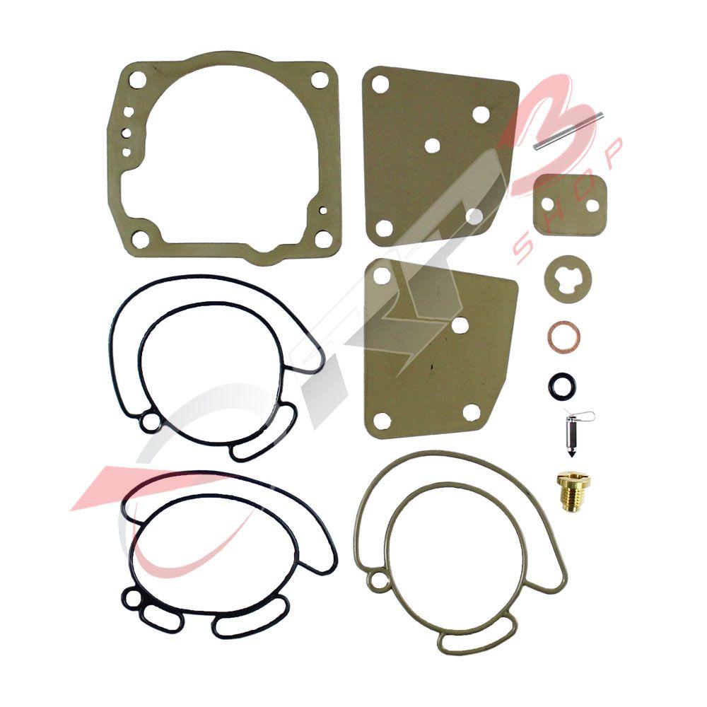 Kit de Reparo de Carburador - (SEM BOIA) - Motor de Popa Johnson / Evinrude 90 HP / 100 HP / 115 HP / 150 HP / 175 HP – V4 e V6 – 60 Graus – Loop Charged