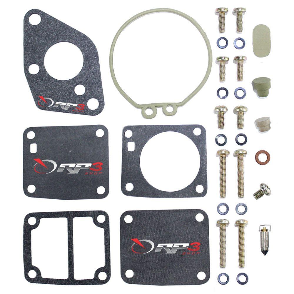 Kit de Reparo de Carburador (SEM BOIA)  Motor de Popa Mercury-Mariner 4 HP / 5 HP / 8 HP / 9.9 HP - APENAS motores JAPONÊS