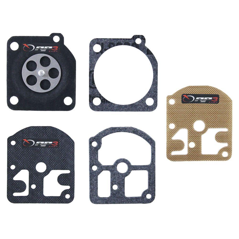 Kit de reparo de carburador – FS 160 / FS 220 / FS 280 / FS 290 – Carburador modelo ZAMA - para Roçadeira