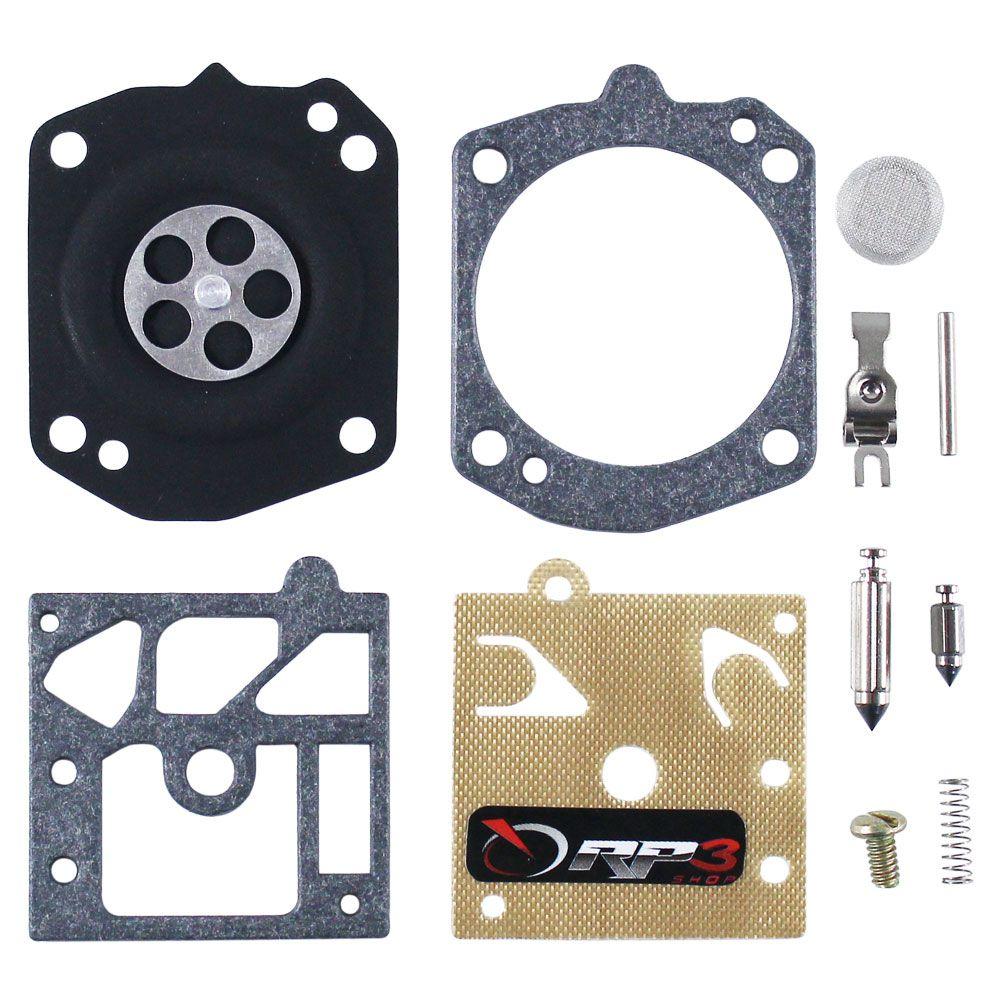 Kit Reparo de Carburador Soprador de Folhas Costal BR 340 / BR 340 L / BR 380 / BR 420 / BR 420 C