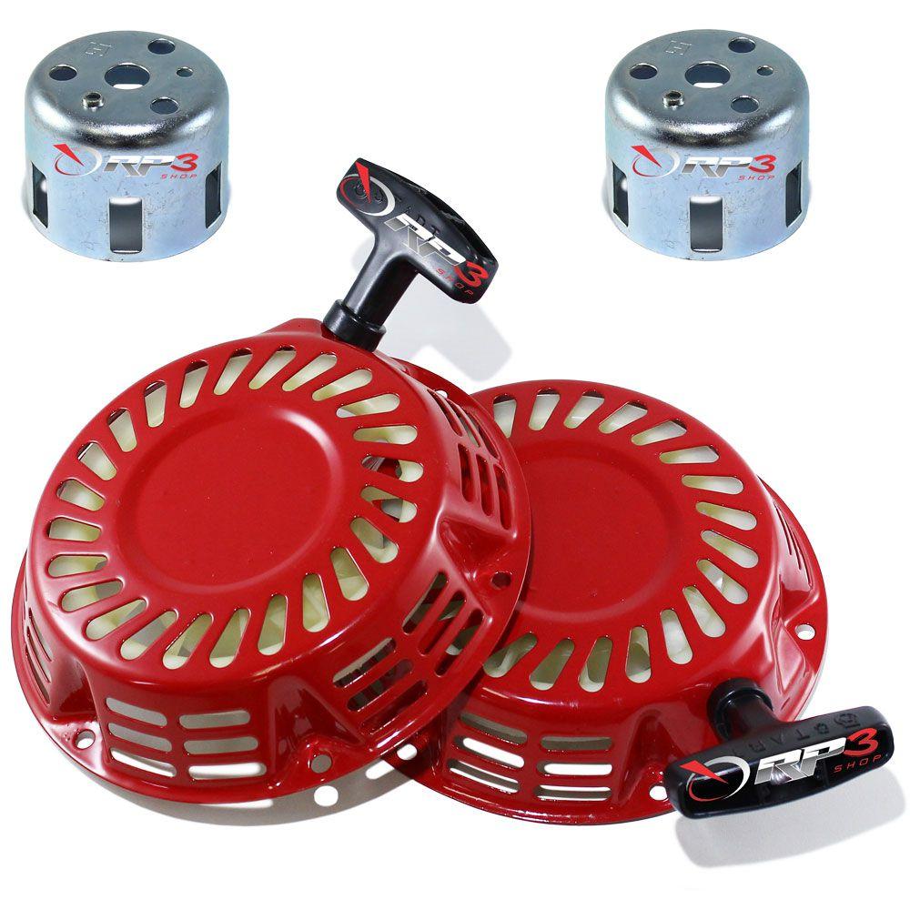 Partida Retrátil Completa ( com Copo ) – motor Honda GX120 / GX160 / GX200 – (2 UNIDADES) - para Motor Estacionário