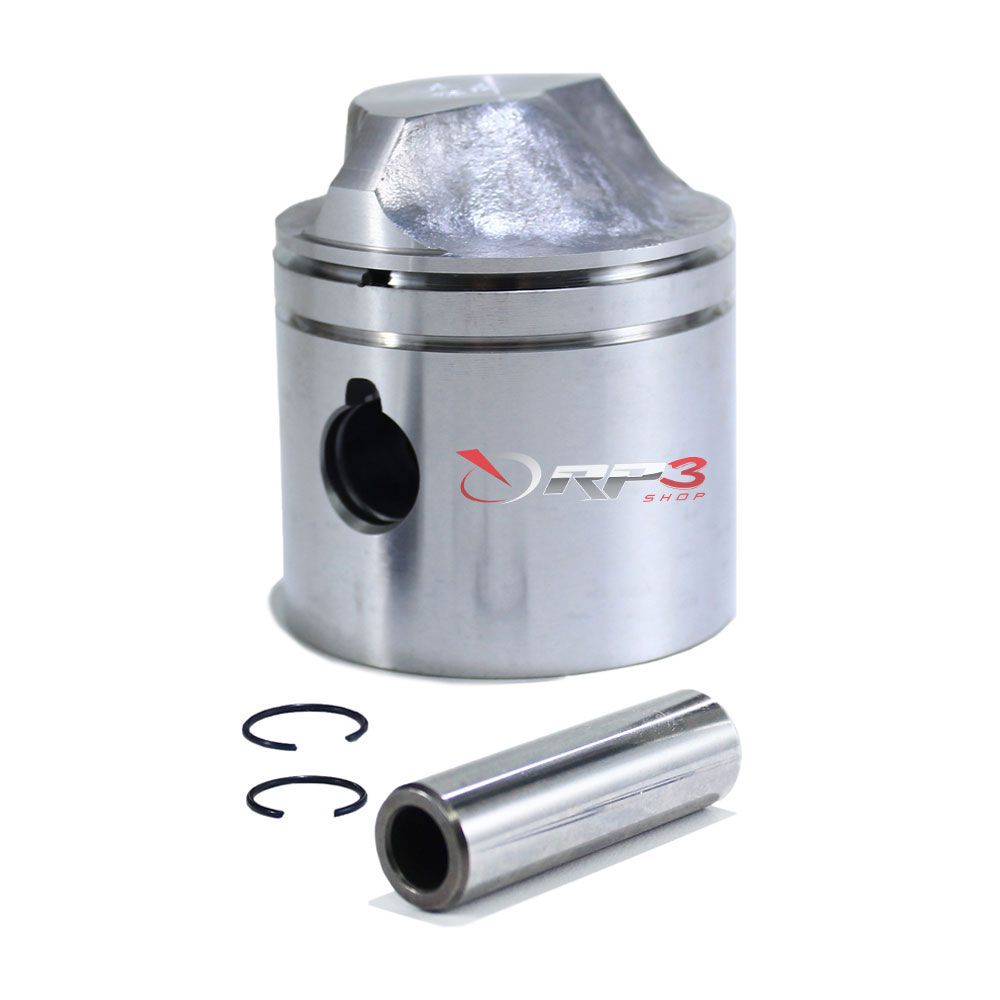 Pistão 0,20 mm - Johnson / Evinrude 15 HP até 1992 - Com Travas e Pino (Sem Anéis) – Importado - para Motor de Popa