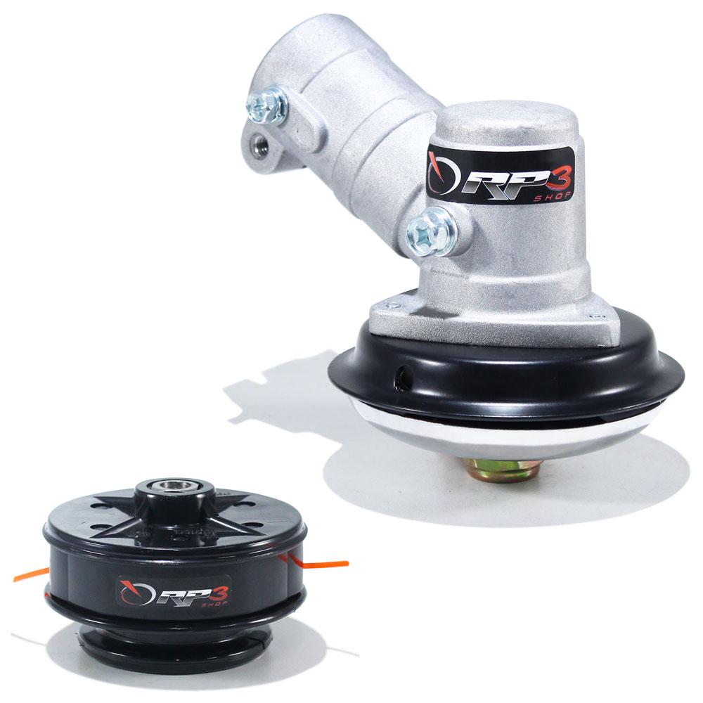 Ponteira de Transmissão + Carretel Manual Roçadeira Trapp Master 1000 - Gasolina ou Elétrica - PONTEIRA modelo eixo QUADRADO !!!