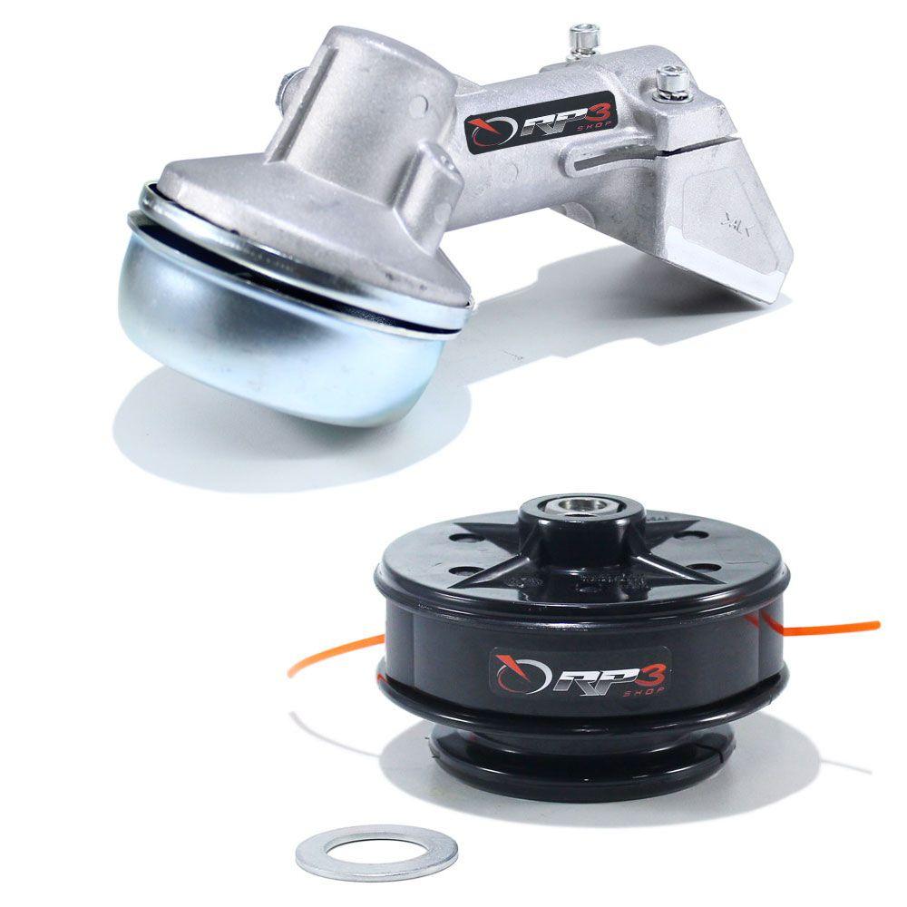 Ponteira de Transmissão + Carretel Manual Roçadeira FS 55 / FS 80 / FS 85 - e Roçadeira Costal FR 220