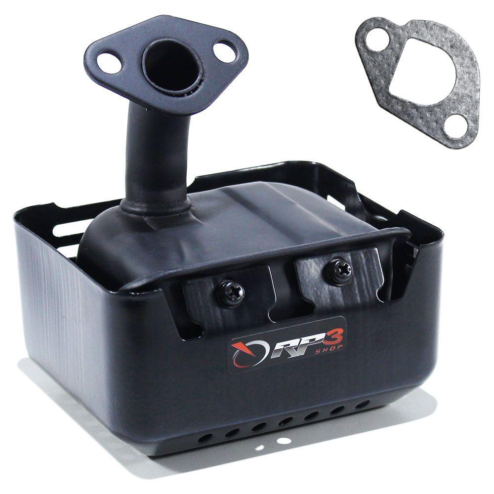 Silencioso / Escapamento + Junta - motor Honda GX120 / GX160 / GX200 - para Motor Estacionário