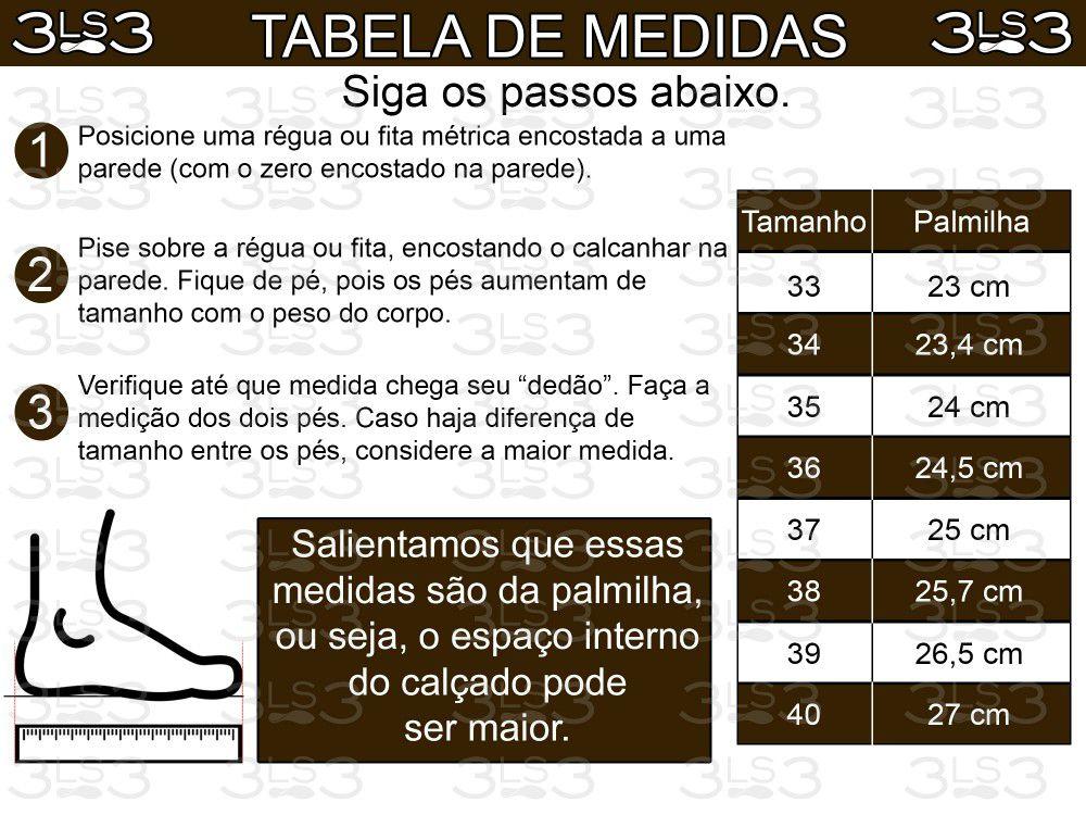 Bota Casual 3LS3 Cano Baixo