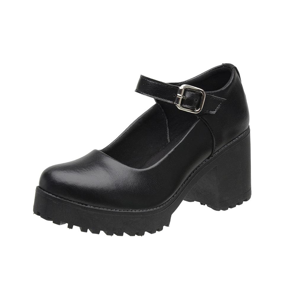Sapato Mary Jane Feminino 3ls3 Preto