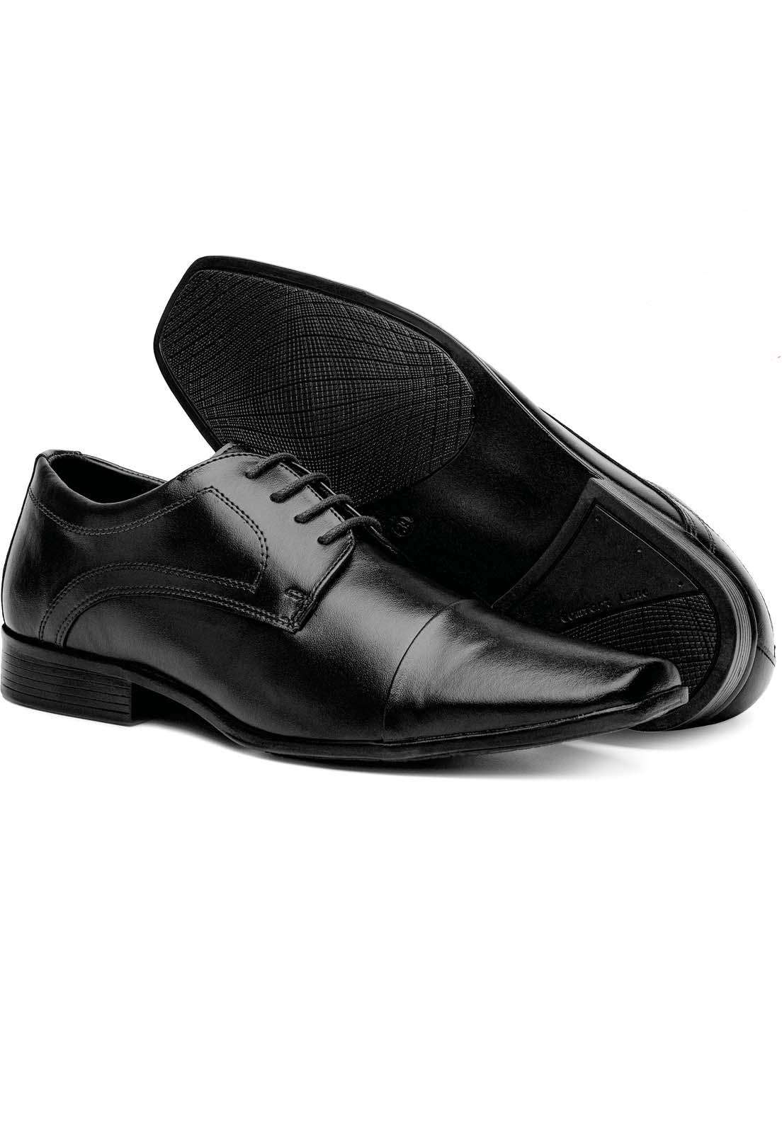 Sapato Social 3ls3 Tamanho Especial Preto