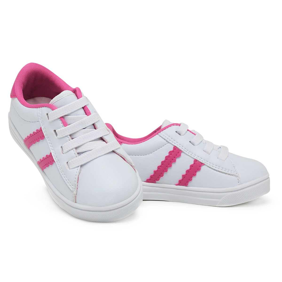 Tênis Infantil 3ls3 Branco Rosa