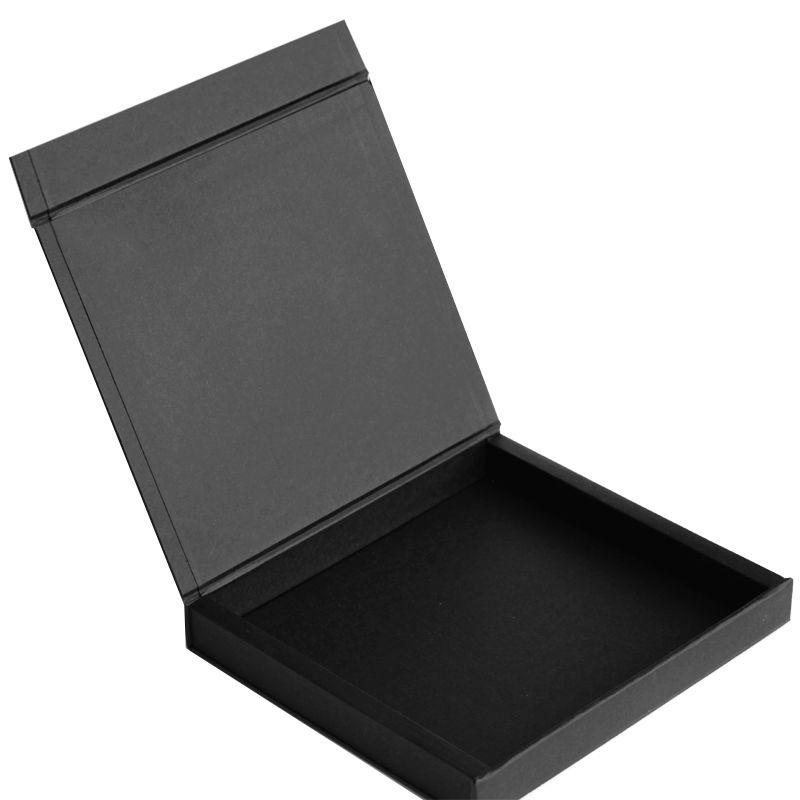 10 x 10 x 2,5cm - Caixa Premium Magnética Preta - Ref.020020