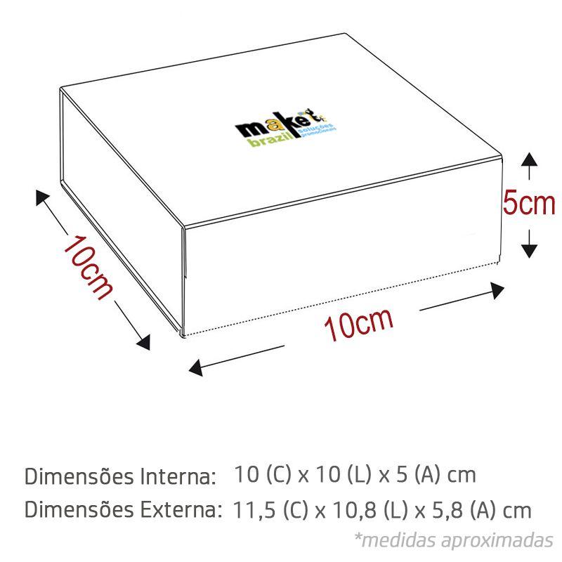 10 x 10 x 5cm - Caixa Premium Branca - Ref.025031
