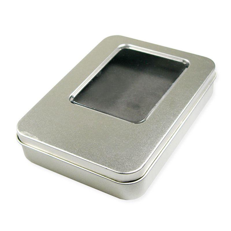 LATA 11,5 x 8,5 - ALTURA 2,2cm - Lata PRATA com visor - Ref.0015102 - A PARTIR DE