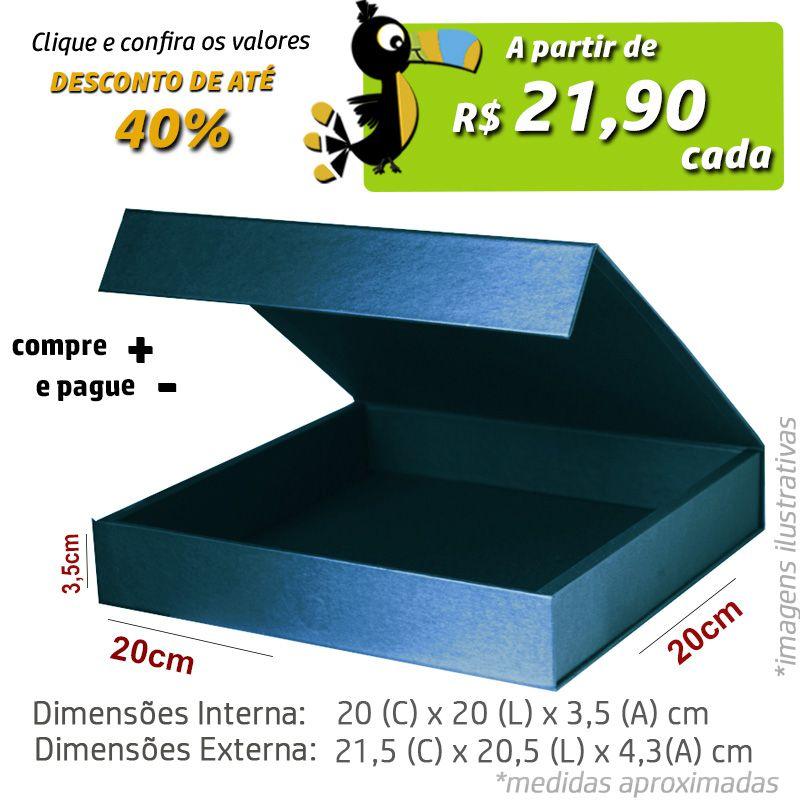 20 x 20 x 3,5CM - CAIXA PREMIUM MAGNÉTICA Color - REF.020122
