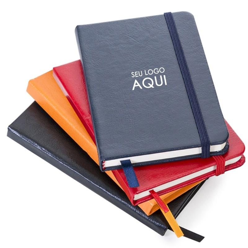 Caderno Tipo Moleskine 14x9cm - Pautado - Ref.0019040 - A partir de...